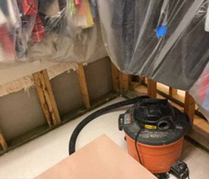 Storm Water Barrier in a Colorado Springs Closet Before
