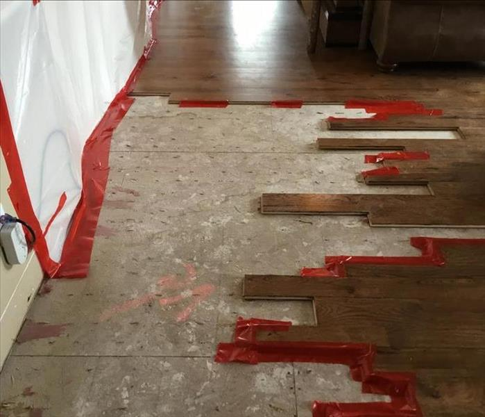 wood floors that are pulled up and being rennovated