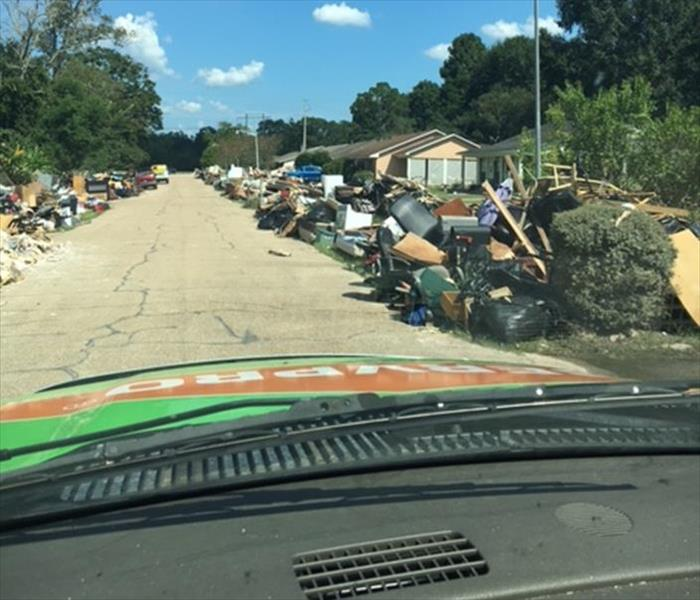 Piled High Lost Possessions in Baton Rouge Post Flood