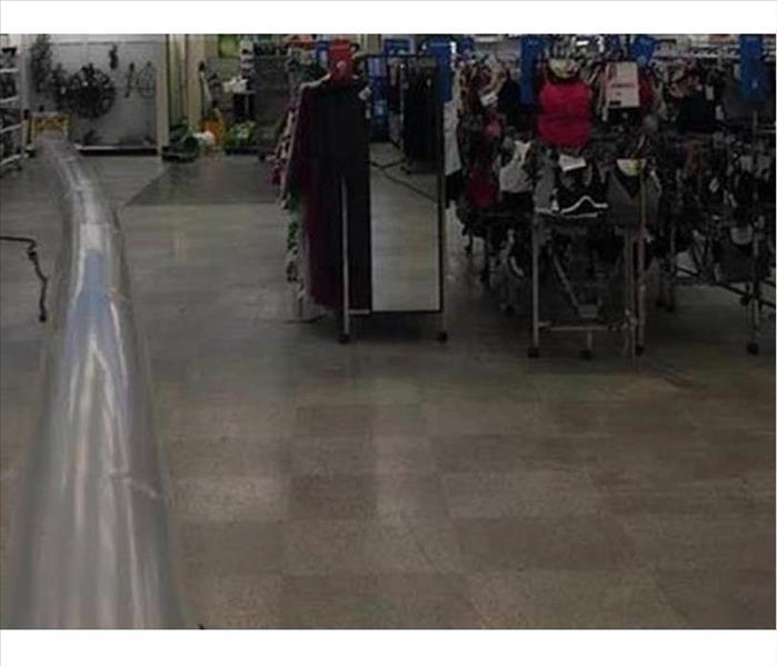 Water and Moisture Removal from a Thrift Store in Security
