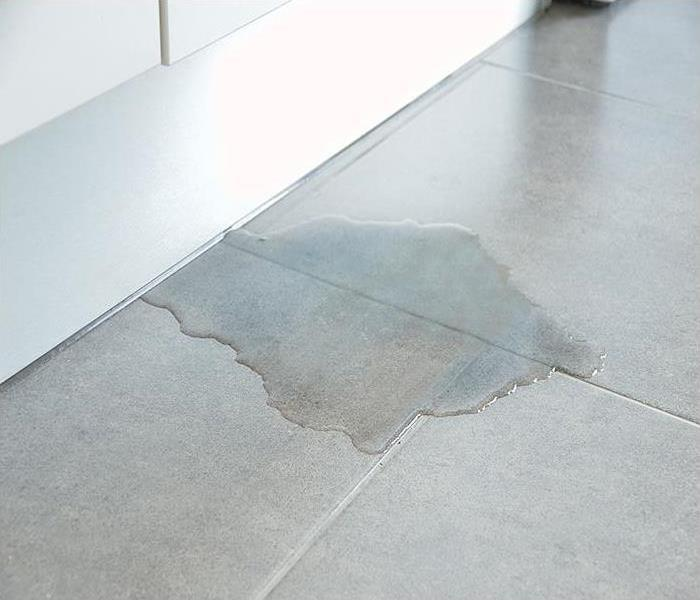 Flooded Floor From Water Leak