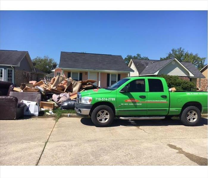 Storm Damage Flooding in Your Colorado Springs Home? Yikes!! Call SERVPRO for Fast Help to Save Your Property