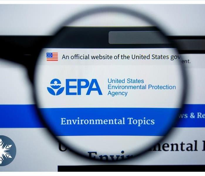 Illustrative Editorial of EPA.GOV website homepage. United States Environmental Protection Agency logo visible on display