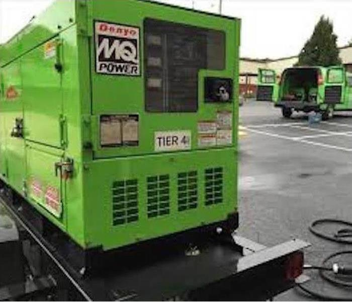 One of our power generators outside a property used to power up equipment temporarily